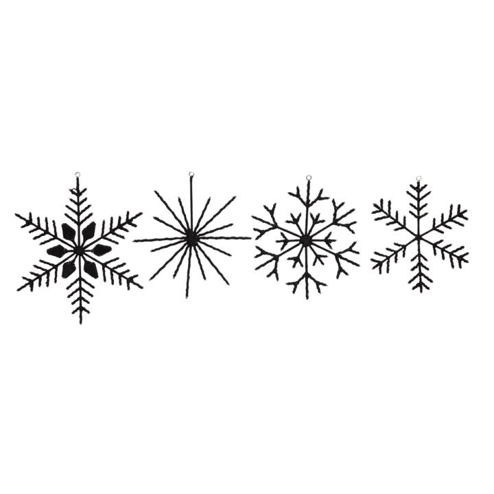 Snowflakes Wool (set of 4)
