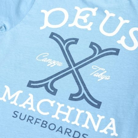 Deus Navigation Tee Custom Surfboards detail